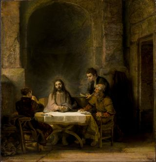 The Supper at Emmaus - Louvre (2)