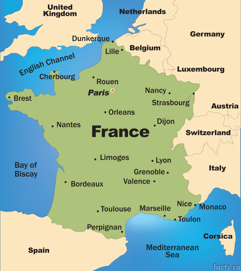 Map Of France Nantes.France Map
