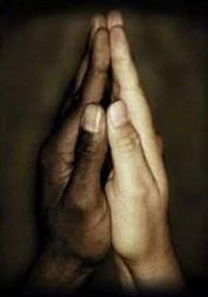 Black-and-white-hands-prayer