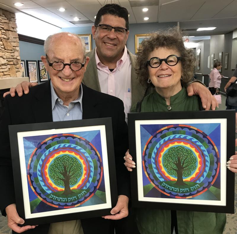 Harold Schlozman Rabbi Rudnick & Esther Rudnick-10 years SCV 2018